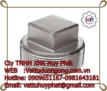 NÚT BỊT REN ( NPT) NGOÀI ÁP LỰC THÉP A105  - Forged Square Head Plug class 3000 ASME B16.11