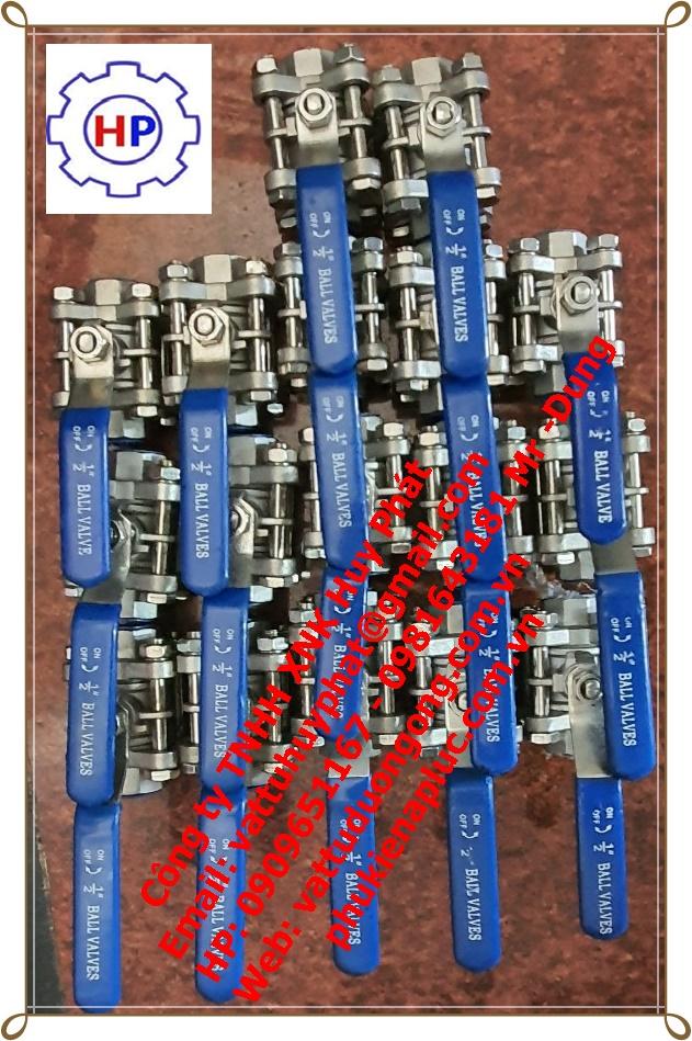 VAN BI INOX REN 304 , 316 3 MÃNH ( 3PC)  DN20 ( phi 27)